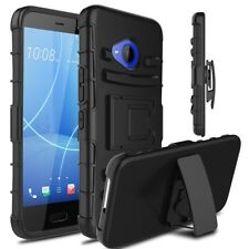 FOR HTC U11 LIFE PHONE CASE [PROTECTION SERIES] HYBRID COVER & BELT CLIP HOLSTER