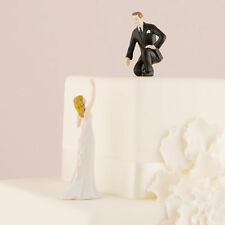 Wedding Cake Toppers Hand Painted Porcelain Bride or Groom