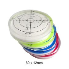 X2 60 x 12mm Angle Clear Mini Round Bubble Spirit level leveller Bullseye Tiling