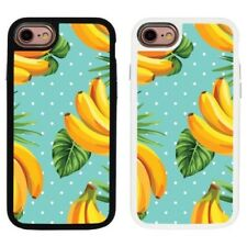 Tropical Banana 2 Piece TRASERO Funda carcasa para iPhone de Apple 7&8 - S707