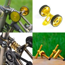 BROMPTON SET: Easy Wheels+Double Roller (add Suspension Hinge Clamp) GOLD
