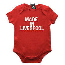 Made In Liverpool Baby Grow Funny Body Suit Gift Newborn Baby Scouse 634