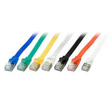 Cavo Patch Piatto SLIM cat. cat.6a U/FTP RJ45 TV RETE LAN 7 Farben 0, 25m -15M
