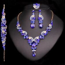 Fashion Crystal Wedding Jewelry Sets For Bride Party Costume Accessories  Jewell