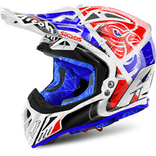 CASCO CROSS AIROH AVIATOR 2.2 SIX DAYS AZUL / BLANCO / ROJO TAMAÑOS XS < XXL