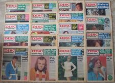 19 x DISC AND MUSIC ECHO MAGAZINES, 1969-70, MULTI-LISTING