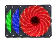 Needcool G1 15 x LED 12V 120x120x25mm 12CM Case Chassis Cooling Fan - 3+4P or 4P