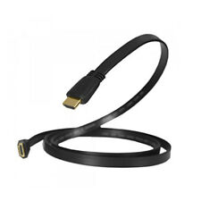 Flat HDMI Cable High Speed With Ethernet v1.4 Gold 1080p LED PC PS4 ARC 4K