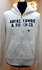 NEW Abercrombie & Fitch Womens Heritage Logo Full Zip Sherpa Hoodie