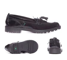 Kickers Lachly Black Patent Loafer Youth School / Formal Shoes RRP £59.99 (KK1)