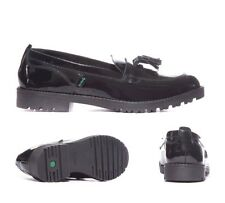 Kickers Lachly Black Patent Loafer Youth School / Formal Shoes RRP £59.99