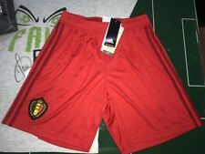 CALCIO FOOTBALL PANTALONCINI SHORTS ADIDAS FIFA WORLD CUP RUSSIA 2018 BELGIO RED