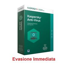 Kaspersky Antivirus 1,3,5 Pc 1,2 anni licenza elettronica software protezione an