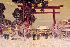Stampa su acrilico View of a Shinto Shrine, c.1889 - Sir Alfred East