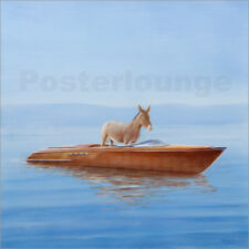 Poster Donkey in a Riva, 2010 - Lincoln Seligman