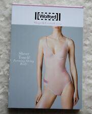 Wolford Sheer Touch Forming String Body Shape&Control Medium Bodysuit Navy:uk8