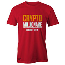 Crypto Millionaire Coming Soon Mens Crypto Clothing Graphic T-Shirt, Bitcoin XRP