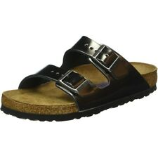 Birkenstock Arizona SFB Antracite Metallizzata In Pelle Piatto Sandali