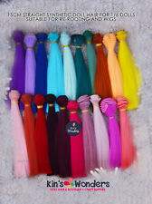 Straight Doll Hair Wig Weft for BJD Blythe Monster High Dolls reroot 15x100 cm