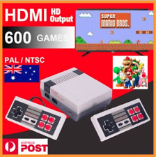 2018 AUSSIE Classic Retro TV Game Console 8Bit 600 Built-in Game 2 Controllers