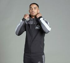 Mens Kings Will Dream Mert Poly Black/Grey/White Hooded Top (KWD2)