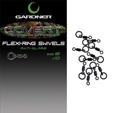 Gardner NEW C-LOK Swivels Flexi Ring, Covert Hook Swivel, Mini Rig, Carp Tackle