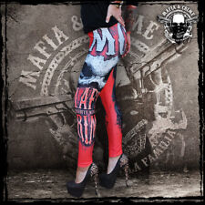 ••• MAFIA & CRIME Ladies Leggings rot / MC Mafia and Crime / XS-XXL / Neuware