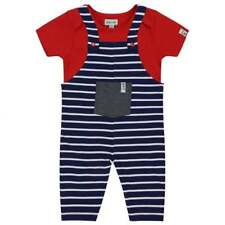 Lilly and Sid Baby Dungaree Set Navy Stripe