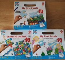 Children`s My First Puzzle Snakes & Ladders,Construction site ,Princess &Unicorn