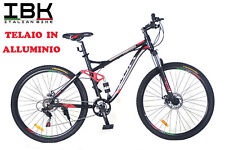 "BICICLETTA BICI MOUNTAIN BIKE MTB BIAMMORTIZZATA 29"" IN ALLUMINIO FRENI A DISCO"