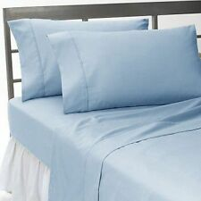 New Collection 1000TC Egyptian Cotton Duvet Collection Select Size&Item-Sky Blue