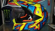 agv ax 8 evo spray casco cross enduro motard quad trial grafica giallo blu rosso