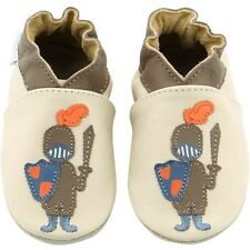 Robeez Knight & Dragon Beige In Pelle Bambino Soft Soles