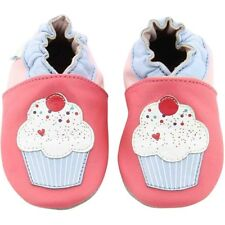 Robeez Cup Cake Rosa Scuro In Pelle Bambino Soft Soles