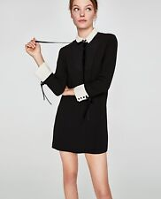ZARA Black Contrasting Mini Dress | XS-XXL |