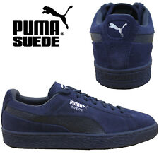 PUMA Suede Classic Leather Mens Trainers Reptile Retro Womens Sneakers Navy Shoe
