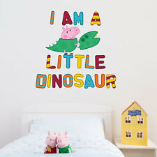Official George is a little dinosaur wall sticker | Official Peppa Pig range