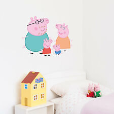 Official Peppa Pig and Family wall stickers set | Official Peppa Pig decor