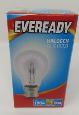 77w Halogen Clear Eco GLS Eveready Light Bulbs BC Bayonet Cap B22 Push In 100w