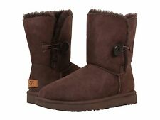 UGG Bailey Button II in Chocolate -now $129 /was $169.95