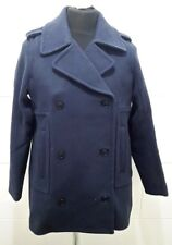NEW Abercrombie & Fitch Womens Double Breasted Wool Blend Peacoat, Navy