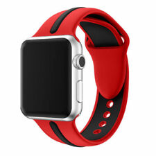 For Apple Watch Series 1 / 2 / 3 Band Strap Bracelet Replacement New Red-Blk