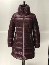 NWT Michael Kors Womens Packable Light Weight Long Hooded Down Jacket Coat