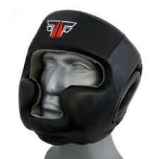 fox-fight Pro Protection de la tête FULL FACE Cuir Véritable kikboxen boîtes MMA