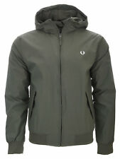 Mens Fred Perry - Brentham Hooded Jacket - J3512 - Olive Crab - Khaki - D89