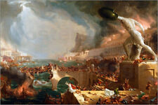 Poster Fall of Rome (Destruction) - Thomas Cole