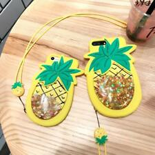 Cute 3D Pineapple Liquid Quicksand Stars Case for iphone 7 6 6s Plus Cover Funny