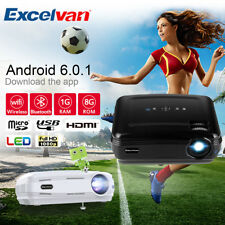 """Excelvan BL-59 1080P WiFi Bluetooth 3D ATV 200"""" Multimedia Proyector Android 6.0"""