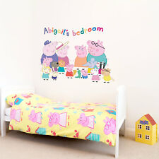 Personalised Peppa Pig Family wall sticker | Official Peppa Pig wall stickers