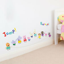 Peppa & Friends with skipping rope wall sticker | Official Peppa Pig decor